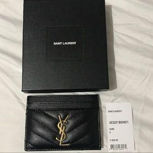 Ysl black card holder